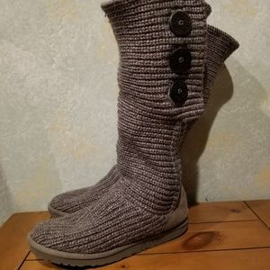 UGG Shoes - Knit Gray Tall UGG Boots sz 8 in GUC